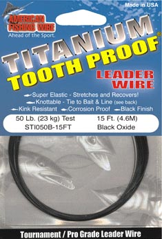 Titanium Toot Proof Leader Wire